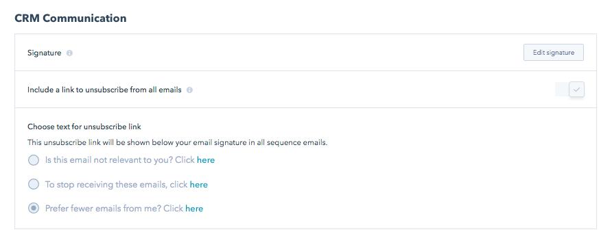 Edit Email Signature HubSpot