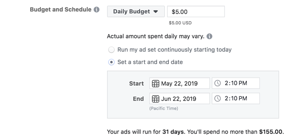 facebook-marketing-budget-and-schedule