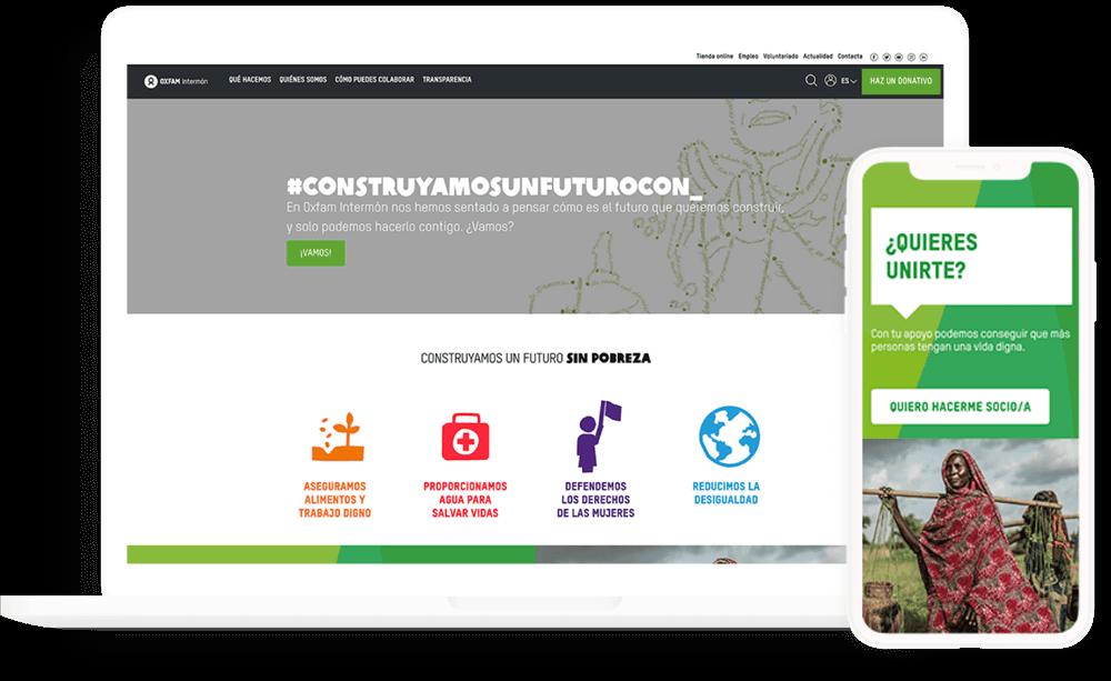 Device Mockups - Oxfam