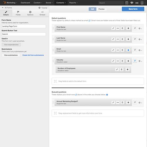 リードインテリジェンスとフォーム - HubSpotリードマネージメント