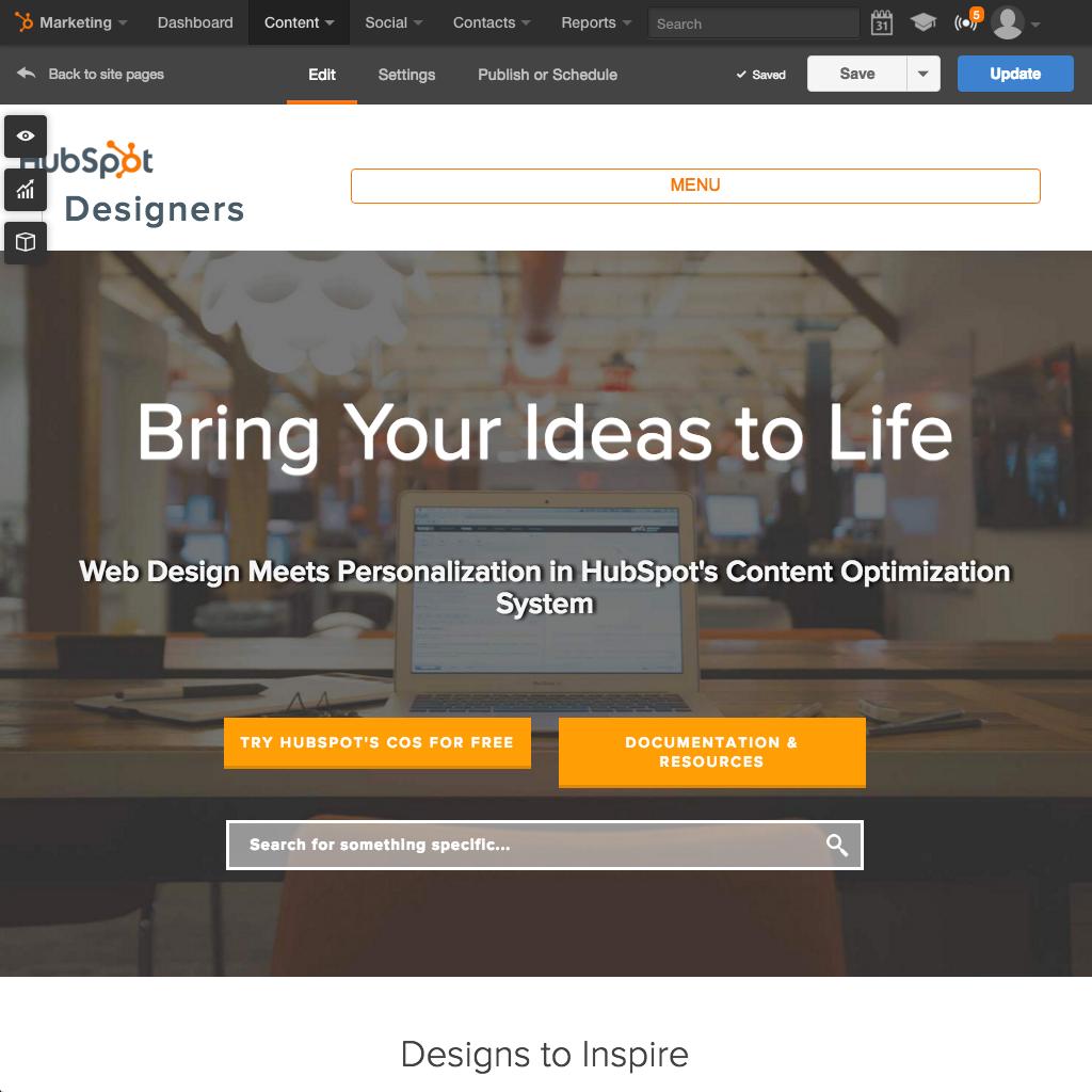HubSpotウェブサイトプラットフォーム - 使いやすくて機能的なウェブサイトを構築する