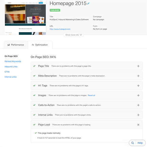 HubSpotウェブサイトプラットフォーム - 速度、セキュリティ、アップタイム